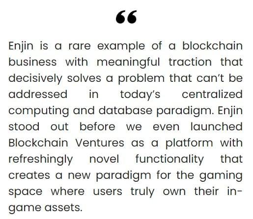 Blockchain Ventures team stated